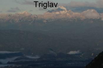 Prvi jesenski sneg na Triglavu