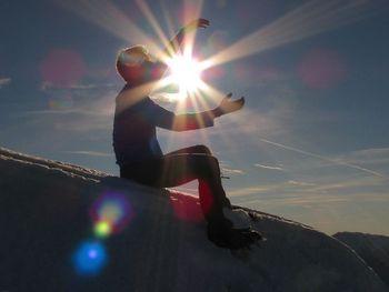 Abrahamovec v elementu na vrhu Storžiča