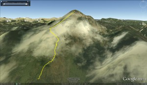 Storžič - 1 kilometer gor