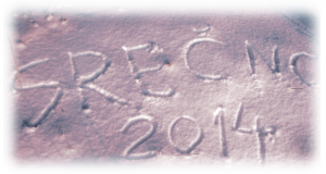 Novoletno voščilo v snegu