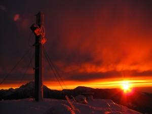 Sončni vzhod na Storžiču